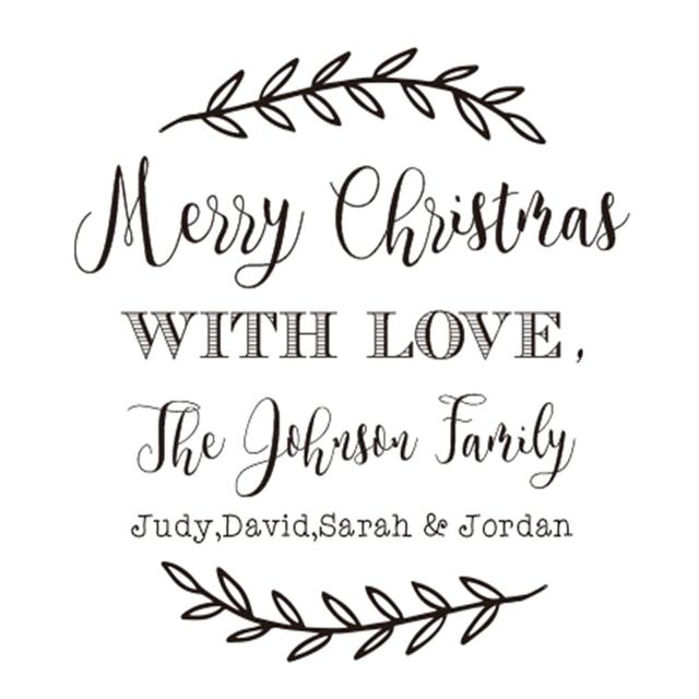 Buon Natale Famiglia.Personalizzato Vacanze Di Natale Timbro Nome Di Famiglia Buon Natale