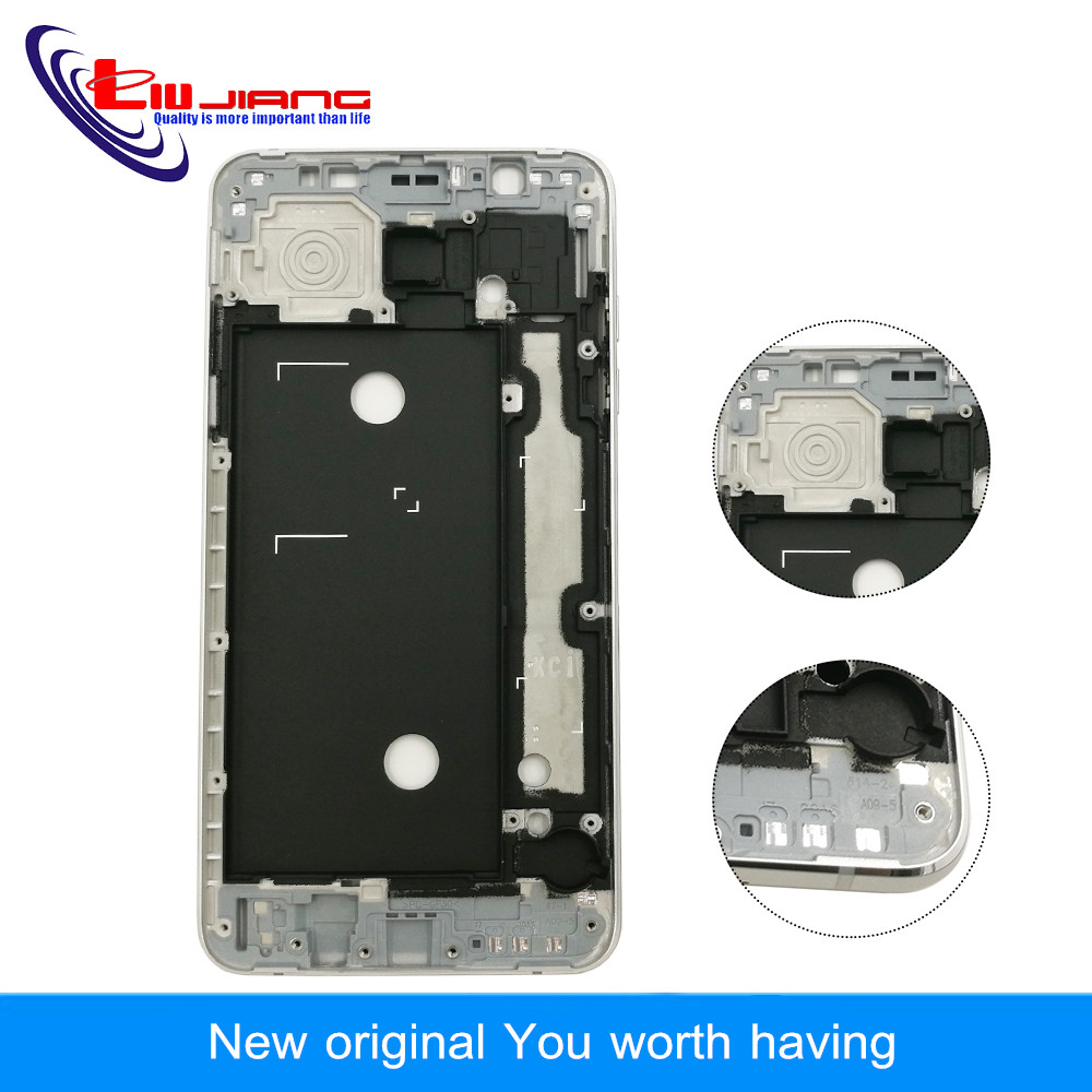 Liujiang Original Front Frame Housing For Samsung J7 2016 J710F J7108 LCD Panel Middle Frame Bezel Case & Buttons + Adhesive