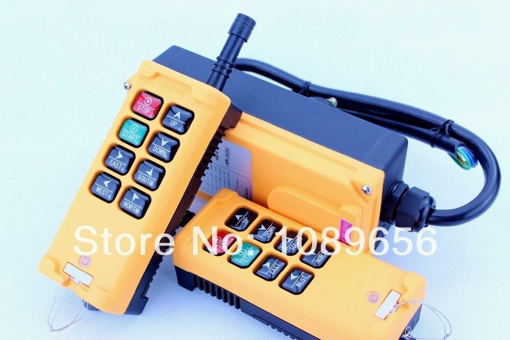 HS 8 8 keys industrial remote controller switch 2  transmitter + 1 receiver Crane Transmitter dc 24v ac 220v 380v-in Switches from Lights & Lighting    1