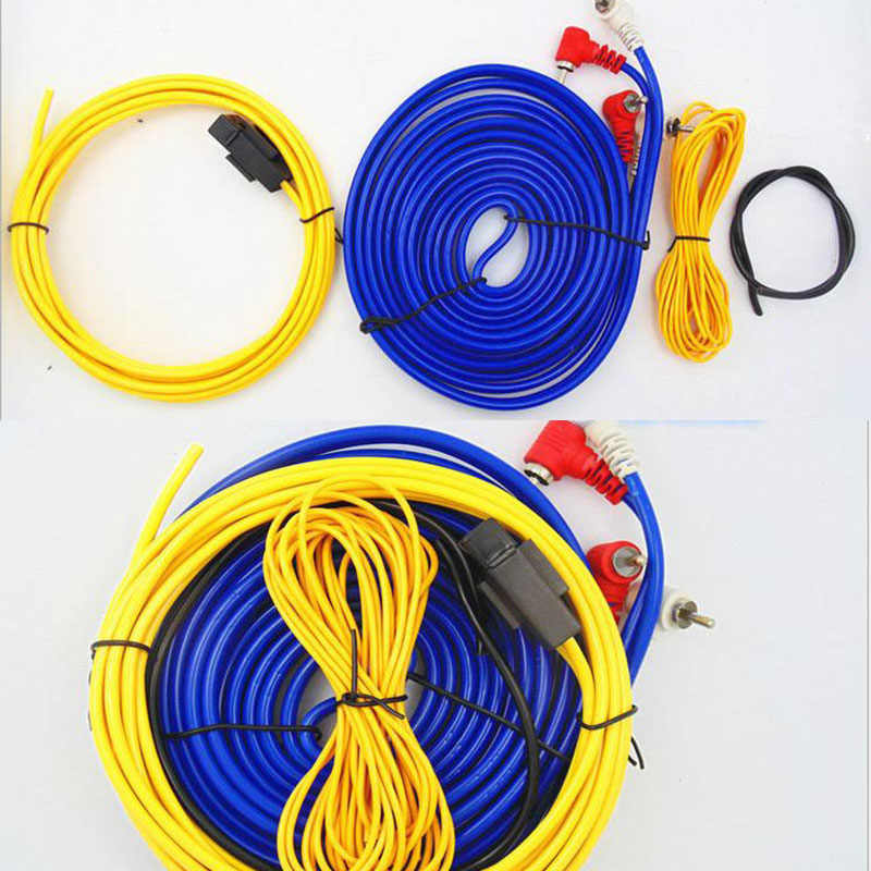 Audio Wire Cable Kit Subwoofer Amplifier Speaker