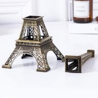 70CM Bronze Eiffel Tower Model Home Decor Vintage Metal Craft Cake Topper Wedding Activities Decoration