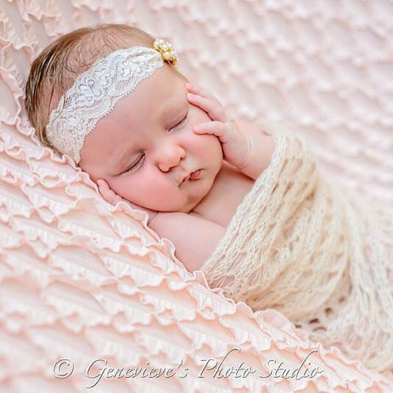17c7fd29115 Wholesale New Children Lace Diamond Baby Headband Girl Elegant Pearl Rhinestone  Hair Band Hair Accessories Baby Headwear