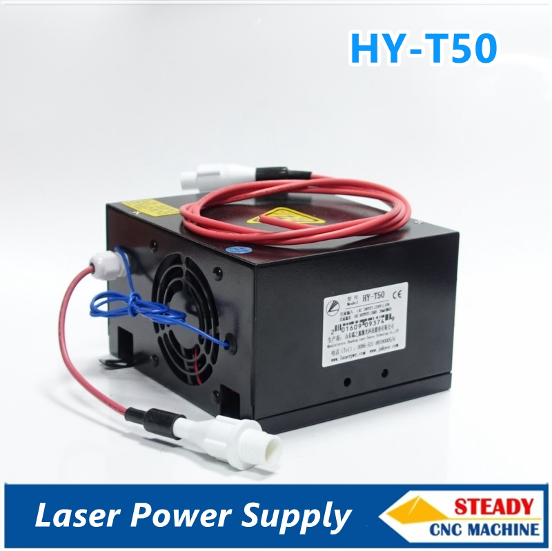 50W CO2 Laser Power Supply for CO2 Laser Cutting Machine HY-T50 high voltage flyback transformer hy a 2 use for co2 laser power supply