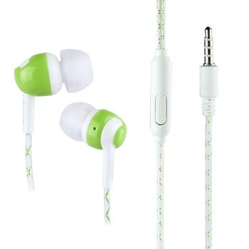 In Ear 3.5mm Stereo Luminous Headphone Super Bass Earphone Headset with Mic  Tangle Free