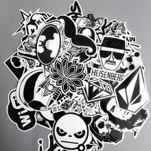 60 шт./лот Смешанные Наклейки Игрушки Стиль Черный И Белый DIY Виниловые Ноутбук Камера Сноуборд Телефон Автомобиля Стикер Этикета