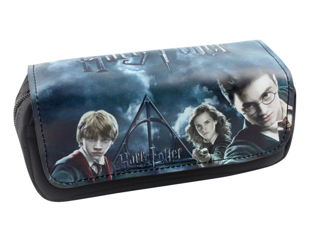 2017 New Arrival Pen Purse Wallets Movie Anime Harry Potter School Pencil Bags Gift Kids Boy Girl Big Capacity Organizer Wallet