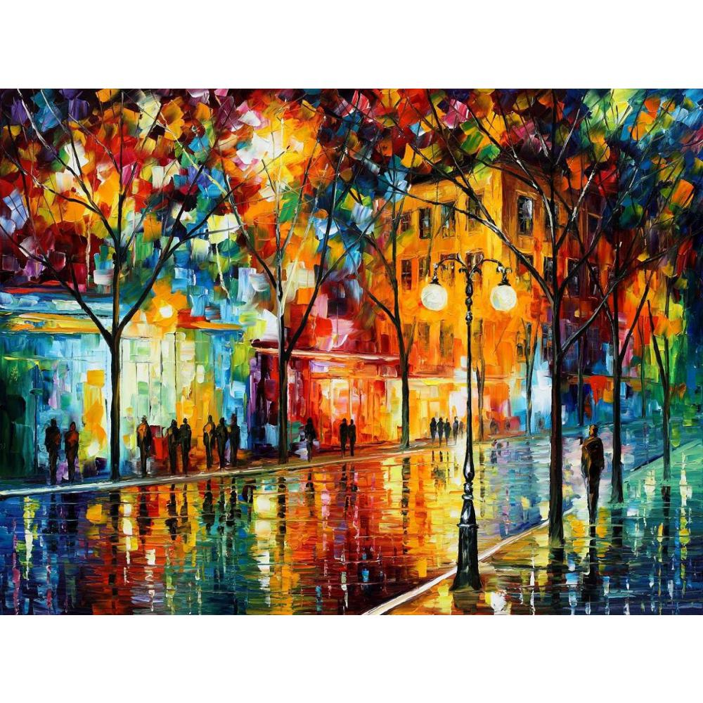 Modern Art Painting Us 69 42 22 Off Modern Art Landscape The Tears Of The Fall Palette Knife Oil Painting High Quality Hand Painted Home Decor In Painting Calligraphy