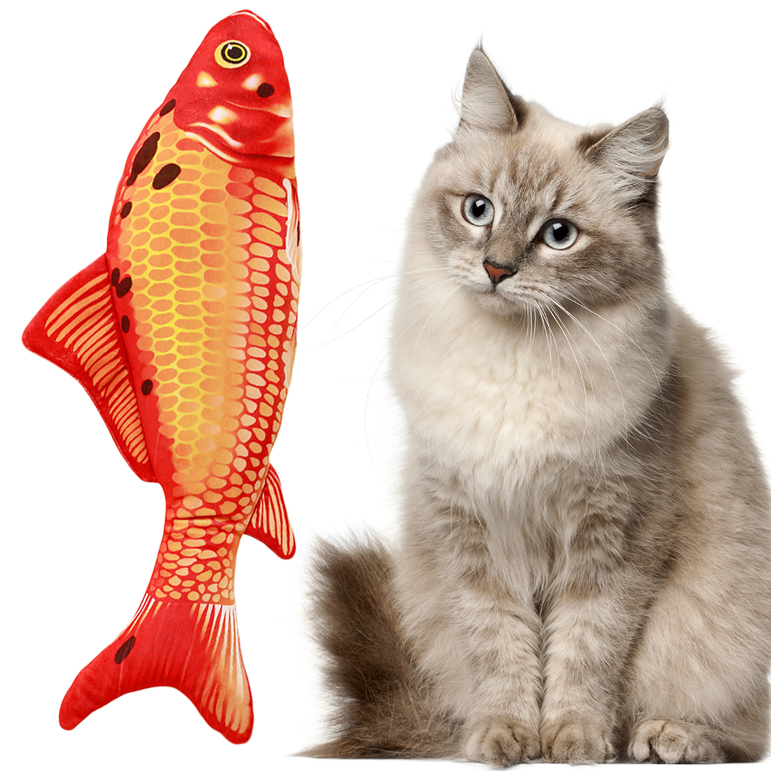 1PC Creative Pet Cat Kitten Chewing Cat Toys Catnip Stuffed Fish Interactive Kitten Product Cat Supplies Hot Sale