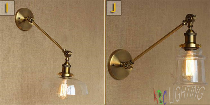 Vintage industriale moderna contemporanea vetro sconce applique da