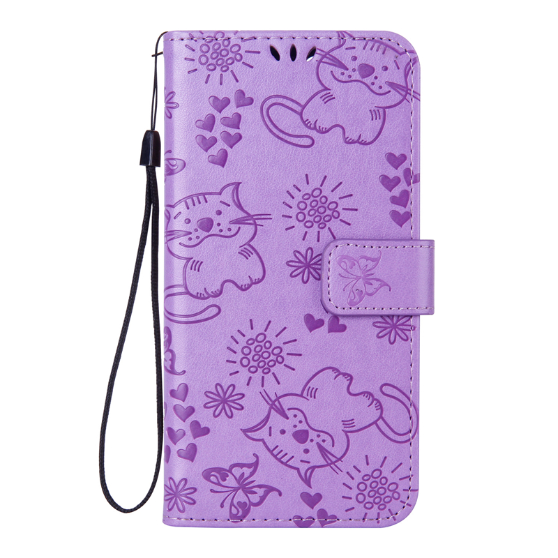 Cute Cat Flip Phone Case For Pixel Google 2 XL Case Luxury Leather+Soft TPU Silicone Phone Case For Google Pixel 2 XL Back Cover