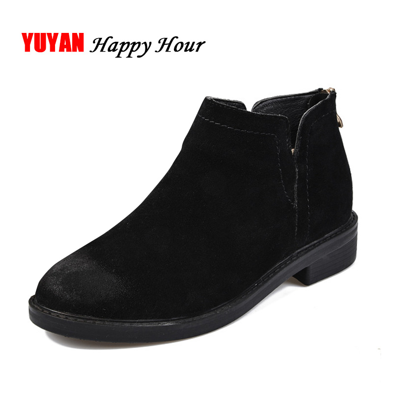 Suede Winter Boots Women Winter Shoes 2018 Ankle Boots for Women Warm Shoes Womens Chelsea Boots Brand Woman Booties A419 xiangxue warm and fuzzy black suede flat boots for winter 2018 chelsea boots for women