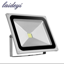 2pcs 50W COB led flood light spotlight AC85-265V led street 3500lms exterior lighting IP65 Outdoor led projector garden lights