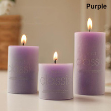 Christmas Valentines Day Scented Candles Classical Colorful Candle for wedding decoration Column Wax Smokeless Fragrant Candle@