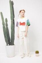 Summer  T-shirt Cute Cat Printed Short-sleeved  Cotton
