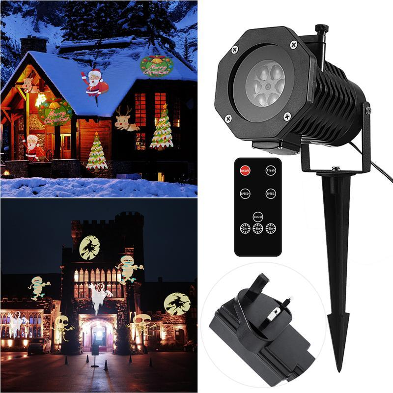 Proyección de luz remoto controlable móvil impermeable LED Spotlight ...