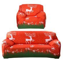 Weihnachten Elch Gedruckt Stretch Sofa Abdeckung Couch Schonbezug Möbel Abdeckung Weihnachten Home Sofa Fall Weihnachtsschmuck für Zu Hause