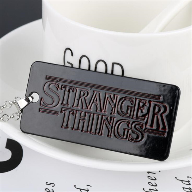 Film and Television Periphery Stranger Things Third Episode Cosplay Prop Accessories Letter Necklace Personality Metal Pendant