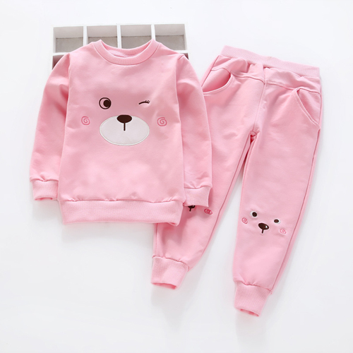 Girls Boys Clothing Sets New Autumn Style Sets Children Clothing Cartoon Appliques Design Sweatshirts+Pants 2PCS Suit