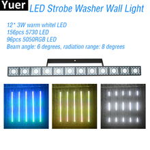 New LED Strobe Washer Wall Light DMX512 Sound Control DJ Disco Party Stroboscope Flashing Lights Dance Club Bar Wash Wall Lights 2pcs lot high brightness king kong strobe 8p 200w led strobe dmx512 sound control party disco dj bar light show projector strobe