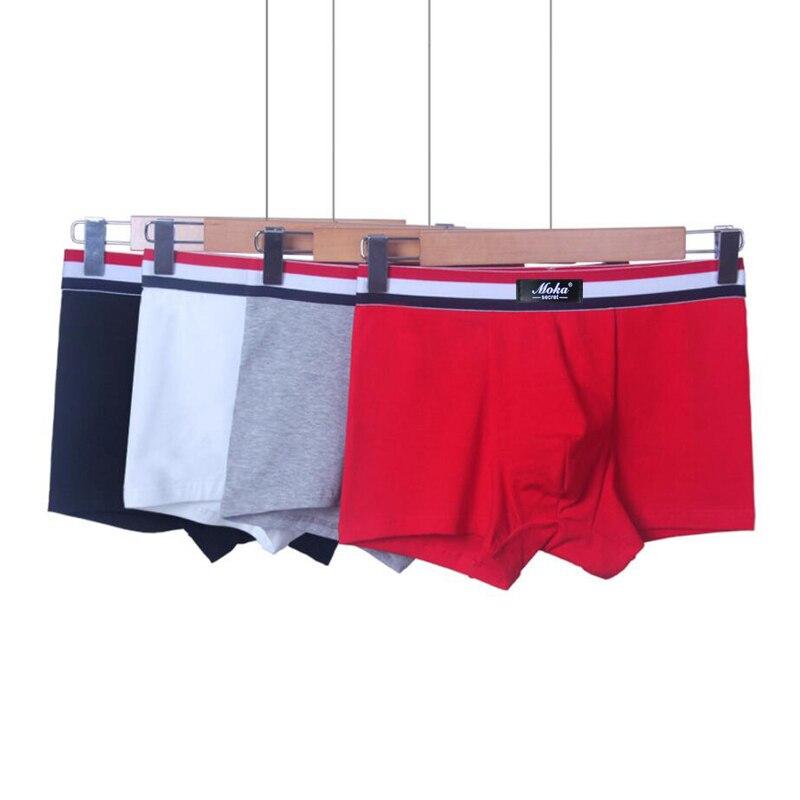 Atmungsaktive Herren Unterwäsche Boxer Baumwolle Schwarz Boxershorts - Unterwäsche - Foto 2