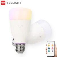 Original XIAOMI YEELIGHT RGBW Smart LED Bulb 10W Wireless WIFI Control LED Light Bulb AC100 240V E26/27 Multiple Colors Lighting