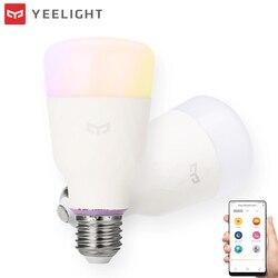 XIAOMI Original YEELIGHT RGBW bombilla LED inteligente 10 W WIFI inalámbrico de Control de bombilla de luz LED AC100-240V E26/27 múltiples colores de iluminación