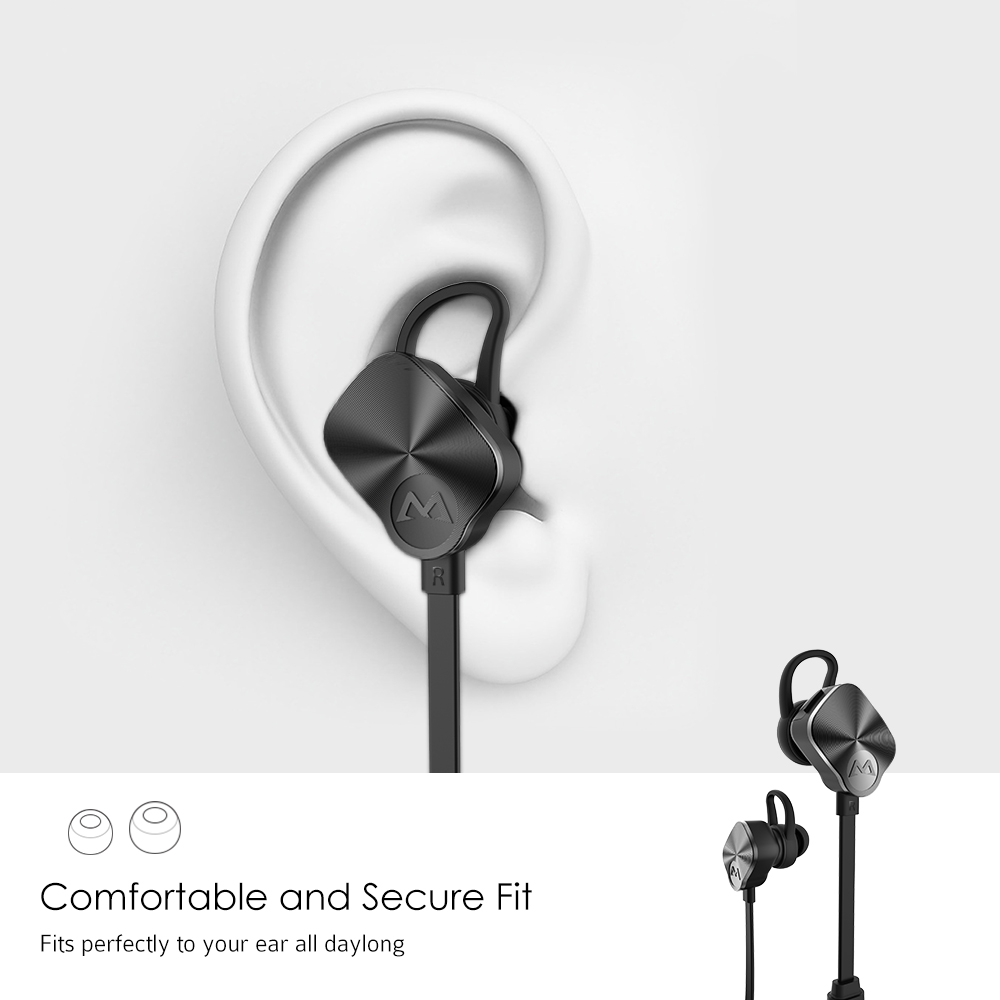 2b75af3c768 Mpow BH29 Wireless Bluetooth 4.1 Headphones Earphone With Mic Stereo Noise  Cancelling Sweat proof Hands free Sports Headset -in Bluetooth Earphones ...
