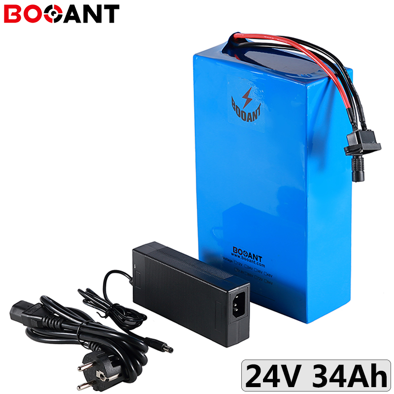 <font><b>24V</b></font> 34Ah 120W 250W rechargeable lithium battery for 32650 cell 7S <font><b>24V</b></font> 350W 500W electric <font><b>scooter</b></font> battery with fast <font><b>5A</b></font> <font><b>Charger</b></font> image