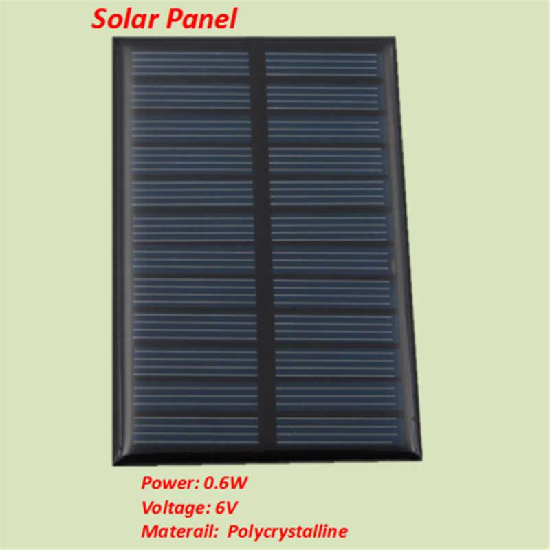 ミニソーラーパネル 6 V 0.6 ワット銀行太陽光発電パネルポリモジュール Diy パワーライトバッテリー携帯電話おもちゃ充電器ポータブル
