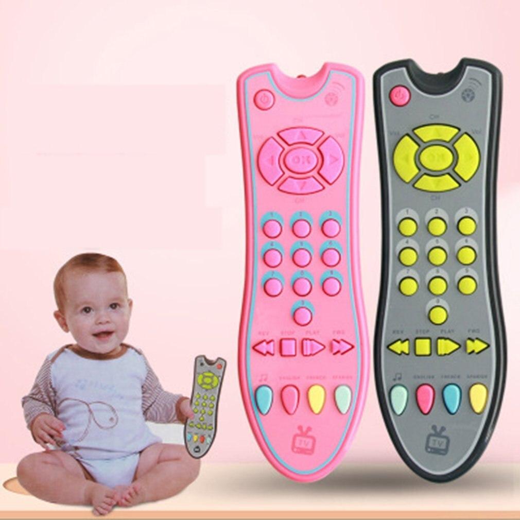 Bébé jouets musique colorée téléphone Mobile TV télécommande début jouets éducatifs numéros électriques apprentissage à distance Machine jouet cadeau