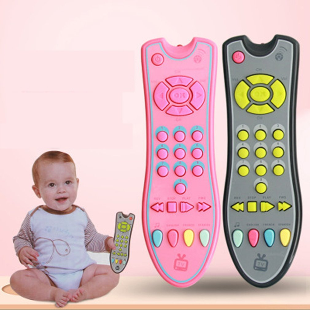 Baby Toys Colorful Music Mobile Phone TV Remote Control Early Educational Toys Electric Numbers Remote Learning Machine Toy Gift(China)