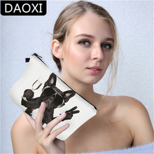 DAOXI 3D Printing Scissors Hands Dog Cosmetic Bags DX50905