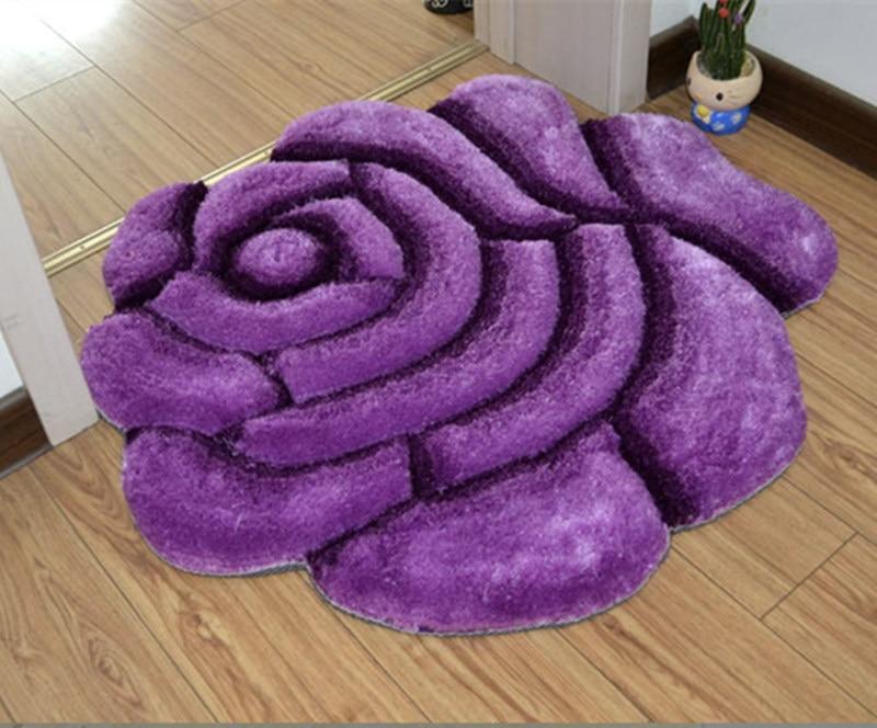 Яркий цвет, 3D Цветочный дизайн, ковер для спальни, коврик для ванной, нескользящий коврик для двери, коврик для пола, большой коврик для ванной комнаты, tapete banheiro - Цвет: zise