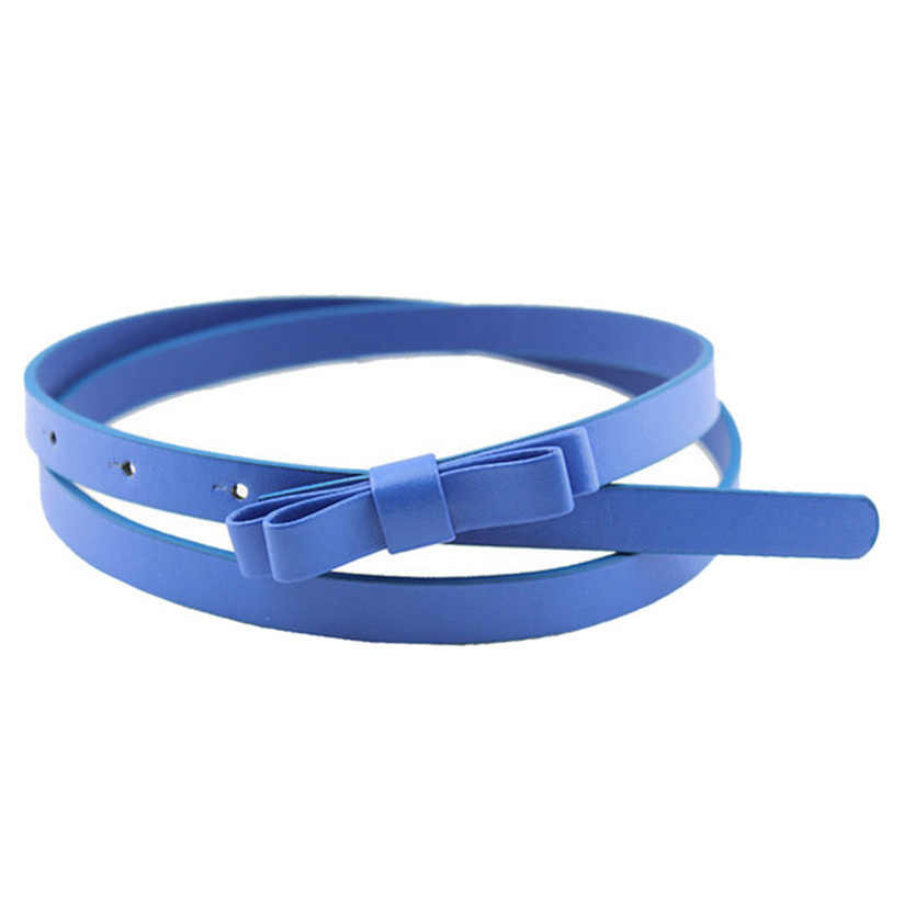Hot Marking 1pc New Fashion Dow Candy Thin Women Pu Leather Casual Belt Cummerbund For Girl H18 Drop Shipping