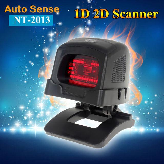 Desktop Omnidirectional 1D/2D CCD Image Laser Barcode Scanner for Supermarket USB POS Bar Code Reader PDF417 2D BarCode Scanner