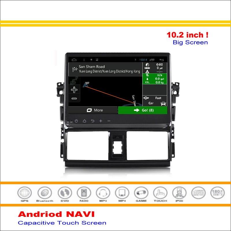 XP150 coche Android Sistema de Navegación GPS Para Toyota Vios/Yaris Sedan 2013