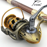 New Hot Sale jiaolong3000 - 7000 Series Aluminum Spool Superior Ratio 5.2:1 Spinning Fishing Reel Boat Rock Wheel Free Shipping