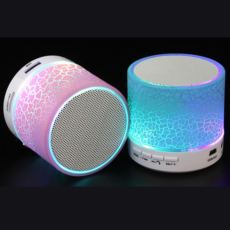 Drahtlose Bluetooth Lautsprecher LED-licht tf-karte USB FM radio Tragbare lautsprecher freisprecheinrichtung call für iPhone X iPhone 8