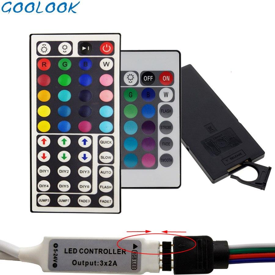 Led Strip DC 12V IR 24Key 44Key Remote Controller   For SMD 5050 3528 Rgb Led Strip