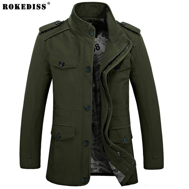 Large size Military Style Jackets For Men Army Military ...