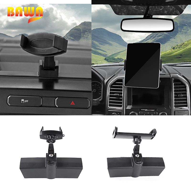 HANGUP Car Interior GPS Mobile Phone Ipad Holder Bracket Cellphone Stand Sticker Accessories for Ford F150 2015 Up Car Styling стоимость