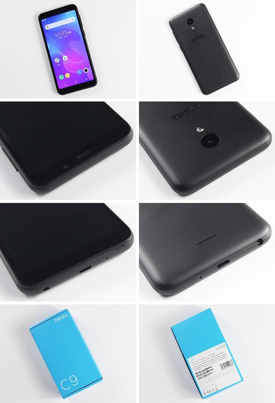 Meizu C9, 2 ГБ, 16 ГБ, глобальная версия, мобильный телефон, четырехъядерный, 5,45 дюймов, 1440X720 P, фронтальная, 8 Мп, задняя камера 13 МП, аккумулятор 3000 мАч