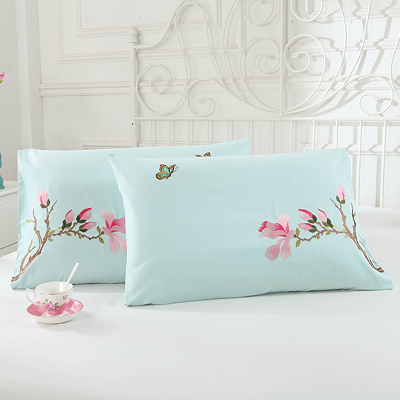 48cmx74cm 100 Cotton Embroidered Body Pillow Cover 400 Thread