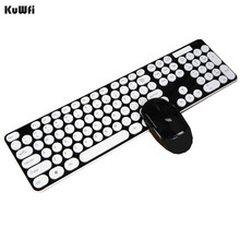Mute 2.4G Wireless Ultra-thin Keyboard With Optical Mouse USB Dongle Combo Set For DESKTOP PC Laptop Windows XP /7/8/10 Android