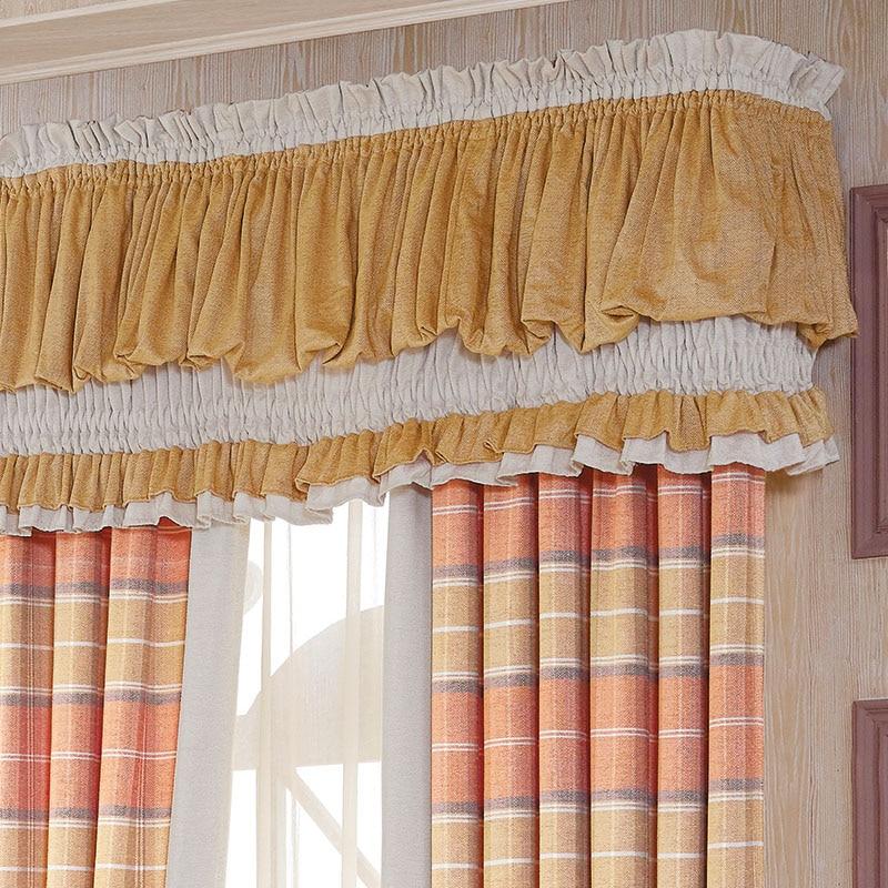 de luxe chenille rideaux pour salon orange plaid rideaux pour chambre salle manger fentre ecosse thicked doux de stores sur mesure dans rideaux de maison