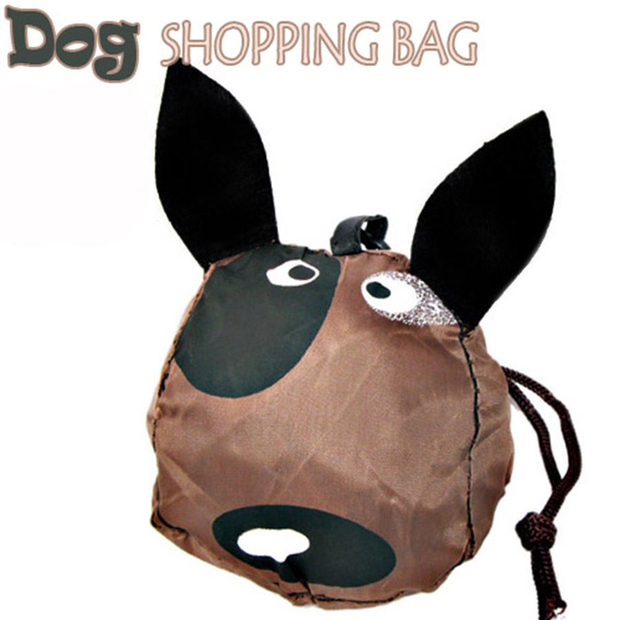 Dog animal folding fabric shopping bag,Environment Eco-friendly reusable Portable Shoulder handle Bag for Travel Grocery