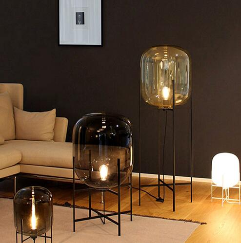 Nordic Style Glass Floor Lamp Fashion Design Table Lamps For Living Room Country House