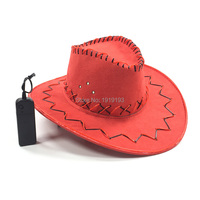 Traditional Adults Gothic Neon Led Strip Western Cowboy Hat Masquerade Decor EL Cold Light Glowing Boven