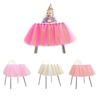 New Fashion Baby Shower Table Decorations 91 5 35cm Tulle Table Skirt Wedding Table Skirt Bright