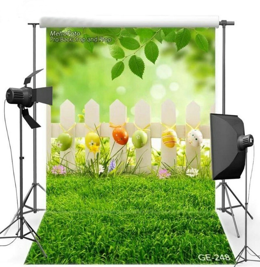 Spring Leaves Bokeh Easter Egg Fence Grass photo backdrop Vinyl cloth High quality Computer Print wall Scenery Backgrounds vintage castle retro medieval architecture stone bridge mountain backdrop vinyl cloth computer print wall backgrounds